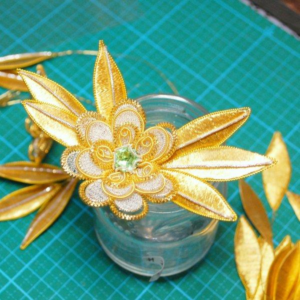 クロスターアルバイテンの花と葉